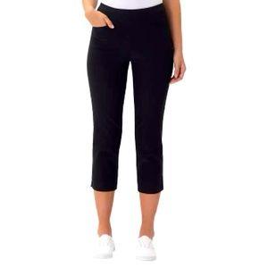 NWT Style & Co Pull on Capri pants Black size 6